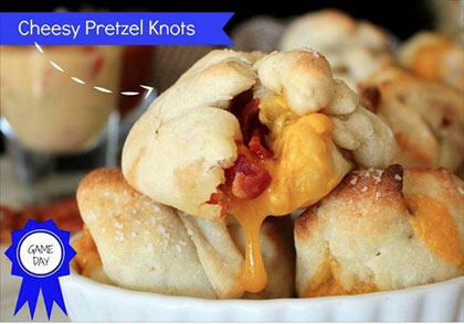 Cheesy Pretzel Knots