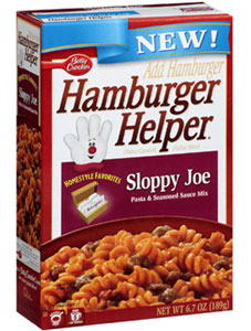 box of hamburger helper