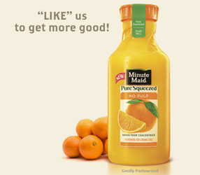 Minute Maid Pure Squeezed bottle