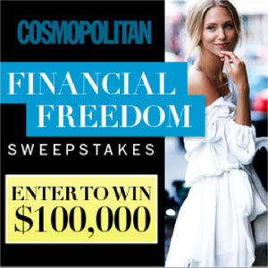 Cosmopolitan's Financial Freedom Sweepstakes: Win a $100,000 and Be Debt Free!